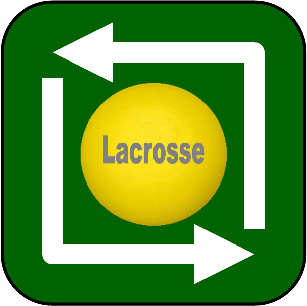 Lacrosse Coaching Drills Button image.